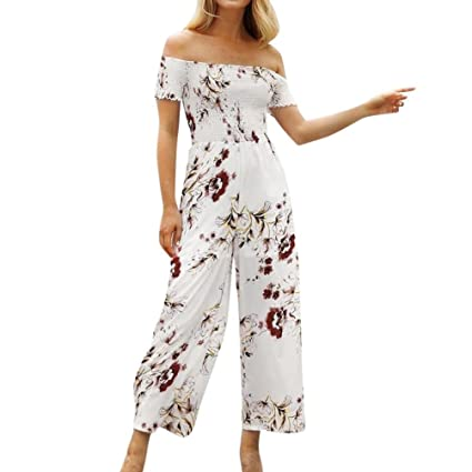 ace244c291d Amazon.com  Leewos Clearance! Casual Loose Rompers