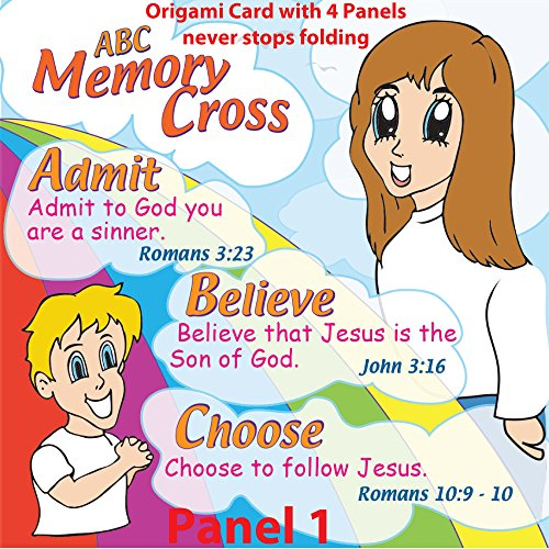 ABC Gospel Tracts for Children by Memory Cross - English Version 24 Cards Per Pack