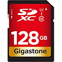 Gigastone Tarjeta SD de 128 GB UHS-I U1 Clase 10 SDXC de Alta Velocidad Full HD vídeo Canon Nikon Sony Pentax Kodak…