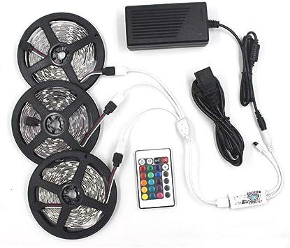 Tira de luces LED de colores 12V adhesivo de bajo voltaje 60LEDs Juego de aplicaciones WIFI