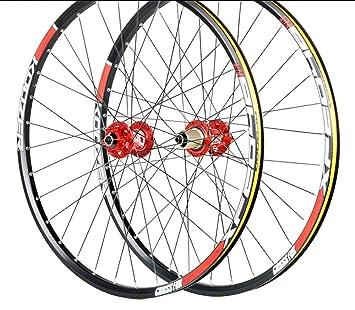 LIDAUTO Bicicleta de montaña Juego de Ruedas MTB 26