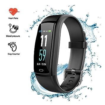 Pulsera de Actividad Inteligente,Comaie Pulsera Actividad Reloj Inteligente Mujer Hombre con Monitor de Sueño