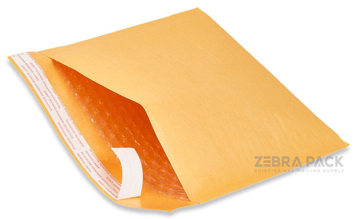 ZebraPack #5 10.5X16 Kraft Bubble Mailers Padded Envelopes 100 pcs