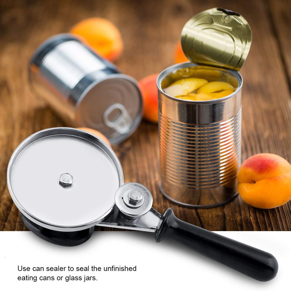 Kitchen Manual Can Sealer Edelstahl Manual Can Round Sealer f/ür K/üchengl/äser Presssiegel-Handwerkzeug