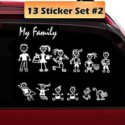 Car Window Bumper Vinyl Decal Sticker £1 Each Figure MY CAR STICK FAMILY