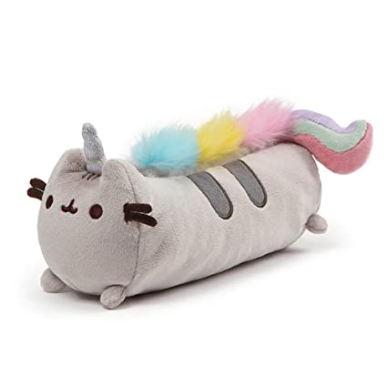 9cc8acfee Amazon.com: GUND Pusheenicorn Pusheen Unicorn Cat Plush Stuffed Animal  Accessory Pencil Case, Gray, 8.5