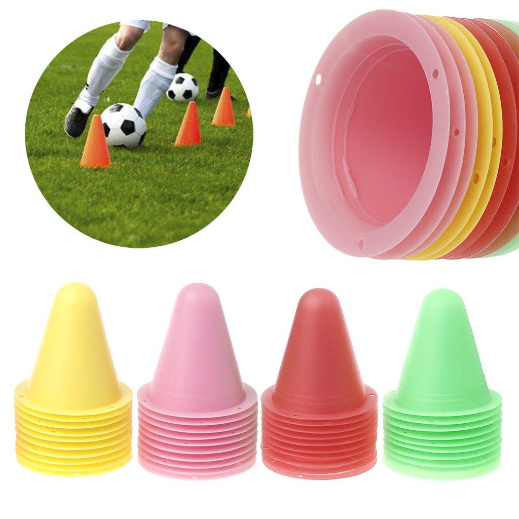 Autone 10pz coni Marker roller skate, calcio formazione attrezzature marcatura Cup, Green