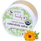 Nature's Herbal Calendula Salve, USDA Certified Organic. Multipurpose Ointment, Skin Cream, Lotion, Moisturizer. Sensitive Skin Formula + Sting Free. Eczema & Psoriasis Cream. (Lavender Chamomile)