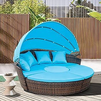 Amazon Com Tangkula Patio Furniture Outdoor Lawn