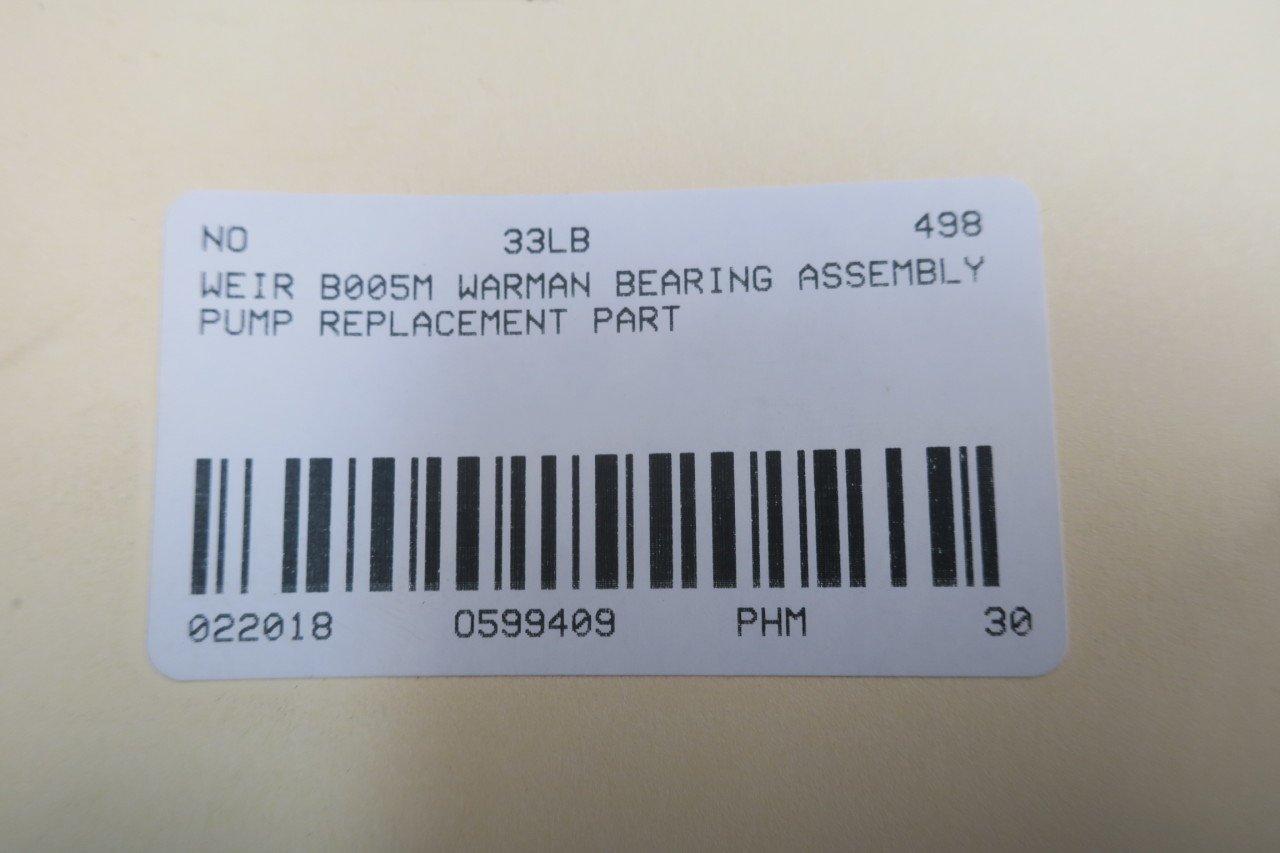 WEIR B005M WARMAN Pump Bearing Assembly D599409: Amazon com
