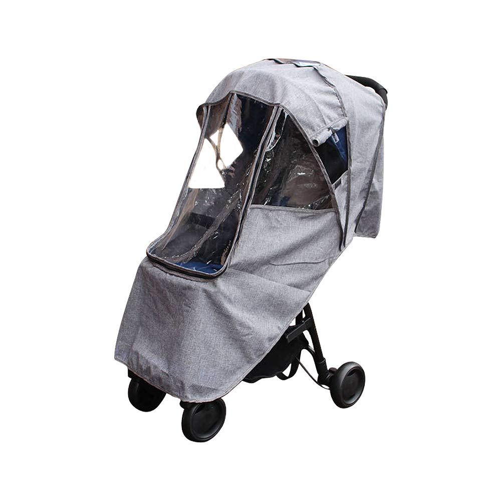 Saftybay Universal Infant Baby Stroller Rainproof Windshield, Child Kids Carriage Umbrella Stroller Raincoat Cover Cold Warm Waterproof Case (Grey)