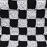 All natural cotton flannel black and white baby quilt featuring black squares and arrow squares