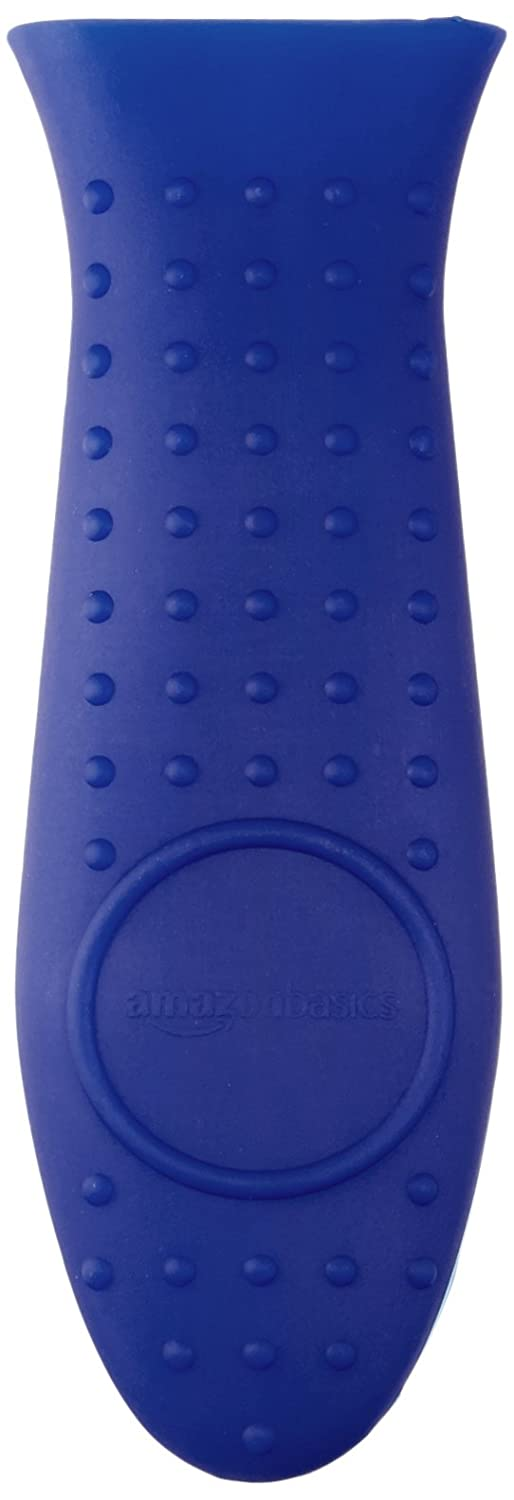 AmazonBasics Silicone Hot Handle Cover/Holder - Blue