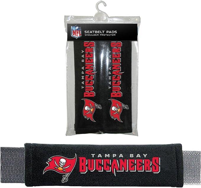 Fremont Die Sports Team Logo Tampa Bay Buccaneers Seat Belt Pad 2 Pack