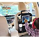 "Car Organizer by AutoMuko iPad and Tablet Holder with Car Seat Organizer - Touch Screen Pocket for Android & iOS Tablets up to 9.5"" -With One-year Limited Warranty"