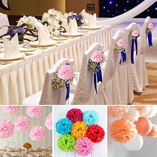 hmxpls 10pcs tissue hanging paper pom poms flower ball wedding party outdoor decoration premium. Black Bedroom Furniture Sets. Home Design Ideas