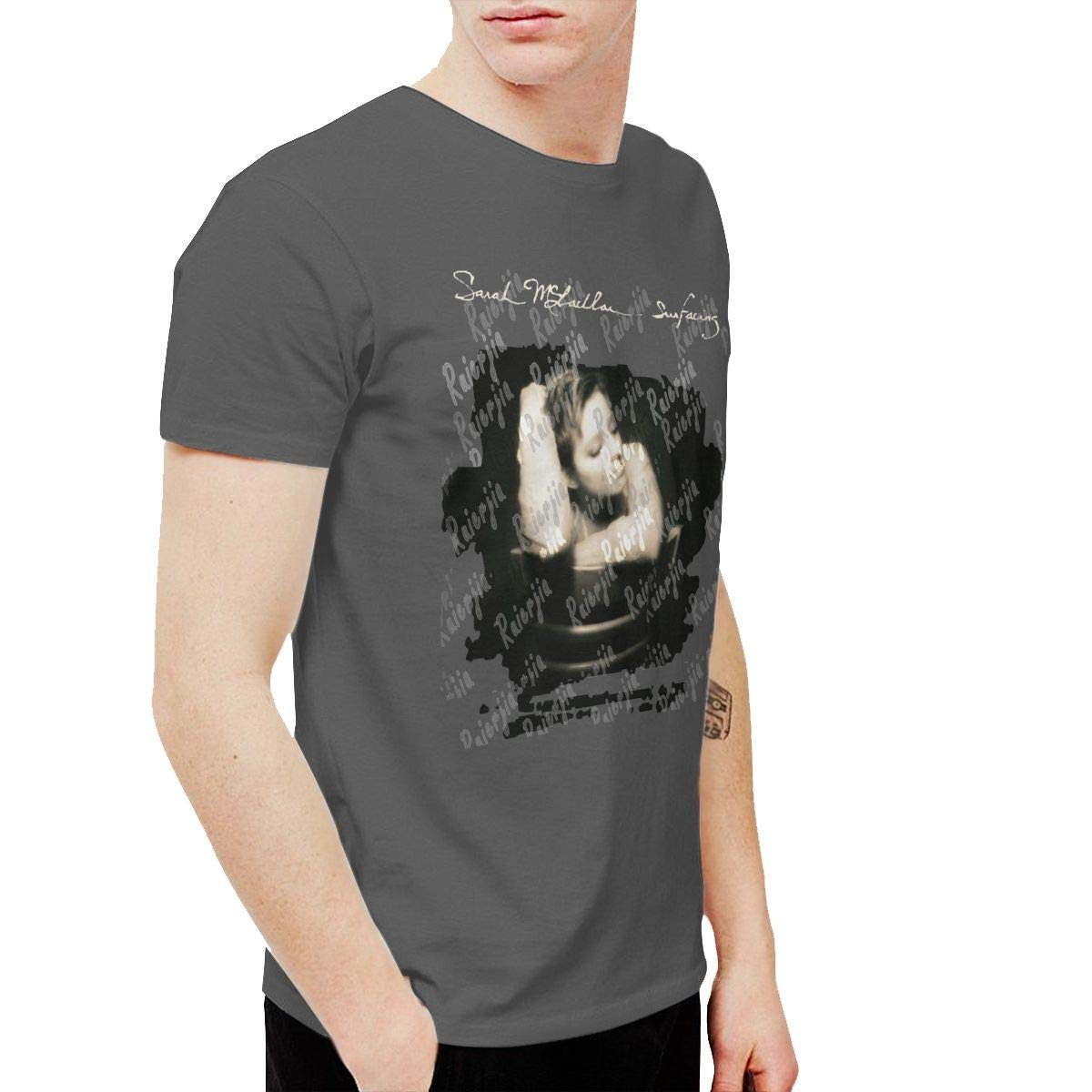 Ruierjia Mens Sarah McLachlan Surfacing T Shirts Deep Heather