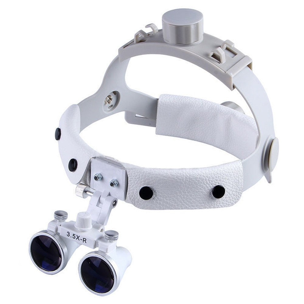 SoHome Headband Surgical Medical Binocular Loupes 3.5X420mm Dental Lab Equipment DY-108 White