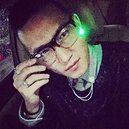 Flashing Night Ice LED Earrings Green
