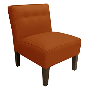 Skyline Furniture Armless Chair With Buttons In Patriot Tangerine