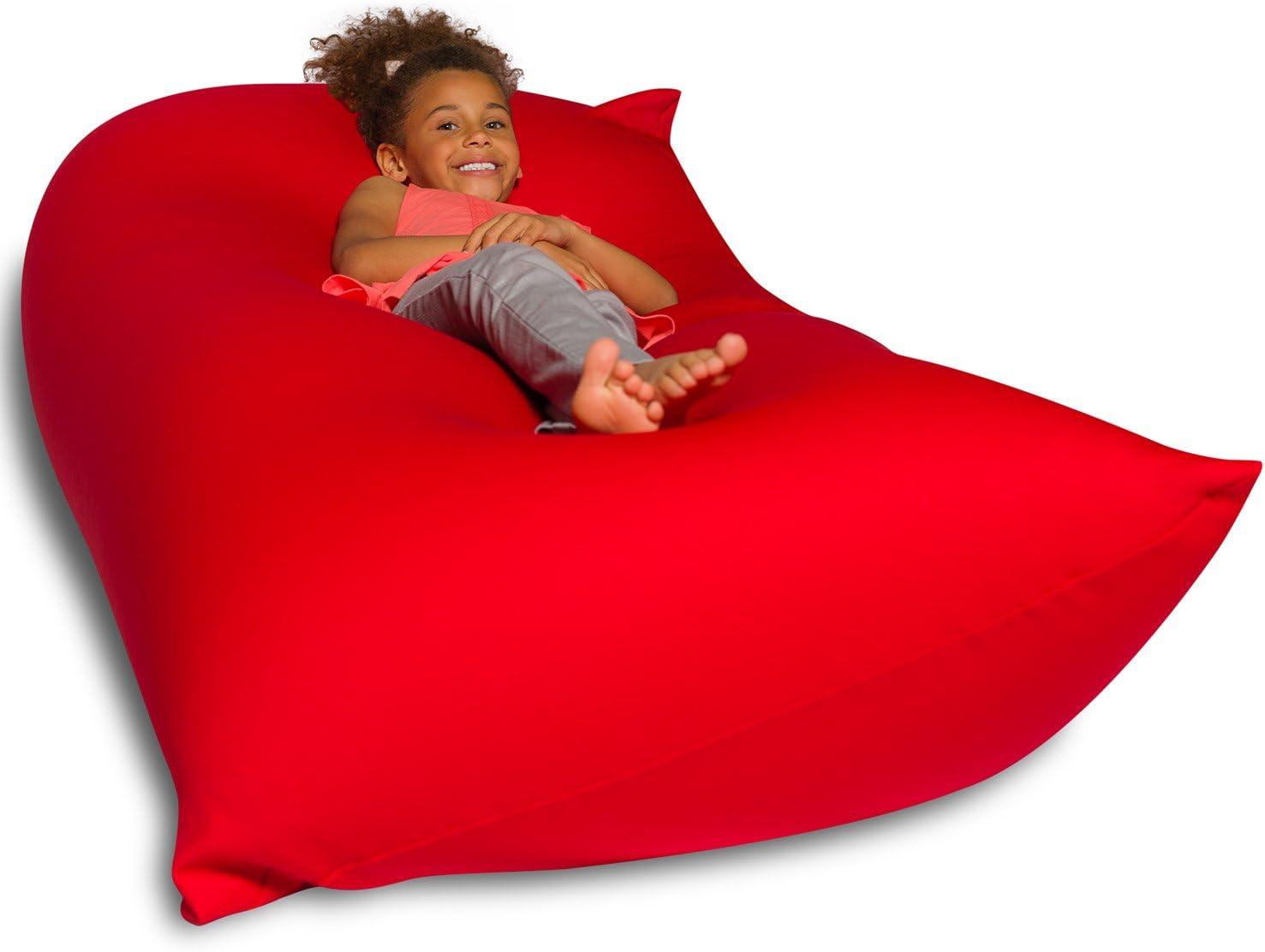 Big Squishy Portable and Stylish Bean Bag Chair, Medium, Red