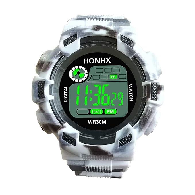 Reloj Analogico para Hombre de Cuarzo Moda para Hombre Digital LED analógico de Cuarzo Fecha de Alarma Reloj de Pulsera Deportivo riou: Amazon.es: Ropa y ...