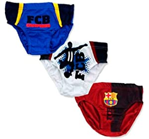 Pack 3 calzoncillos slip en caja regalo de FC Barcelona  Amazon.es ... 8c6b6856674