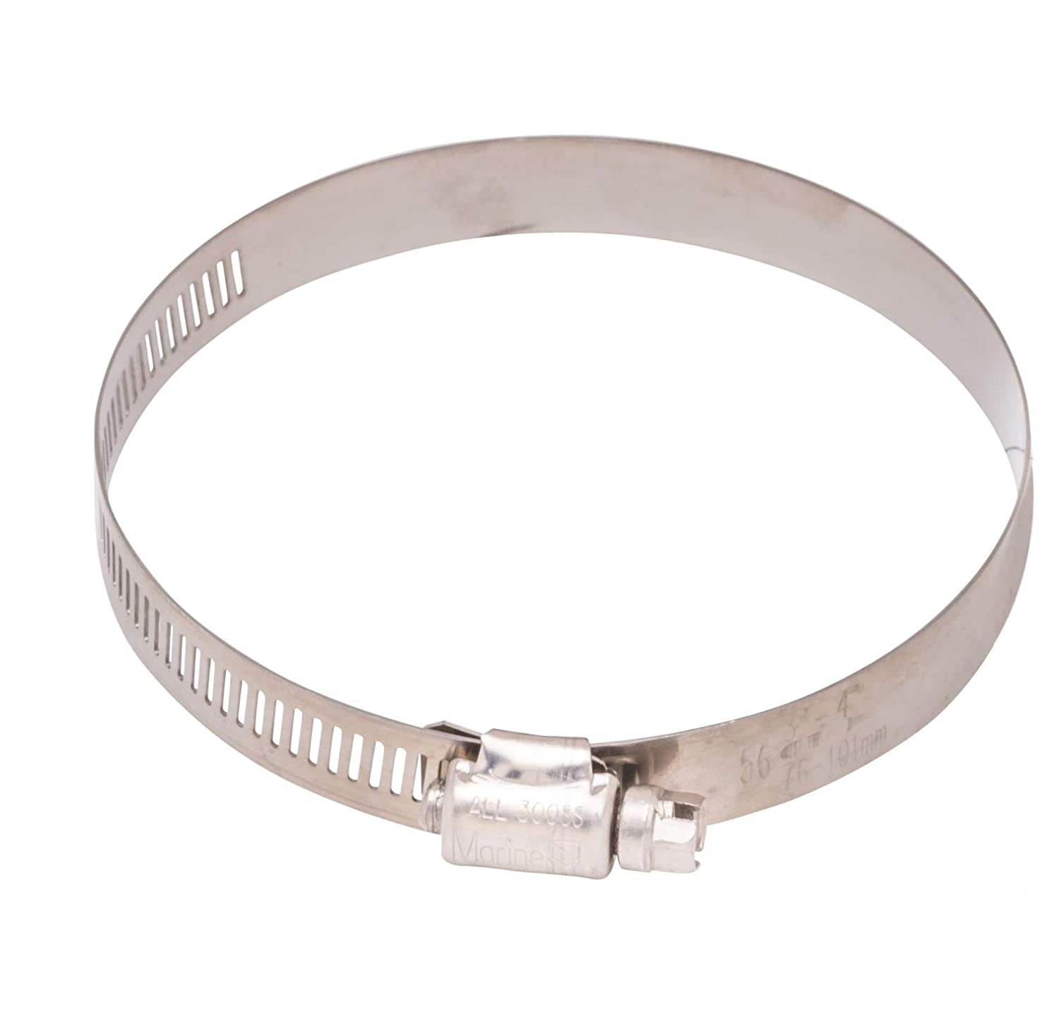 300 SS #24 Stainless Hose Clamp 10pc 1-2 18-8 S//S 1//2 Wide Band Diameter