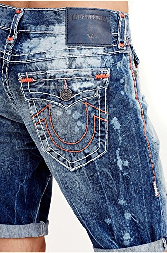 159ee1c4e 50%OFF True Religion Men s Ricky Super T Flap Pocket Relaxed Straight Short  in Indigo