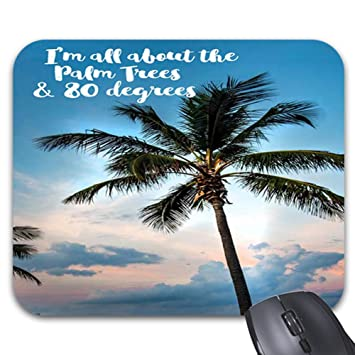 Amazoncom Beach Quotes With Palm Trees Mouse Pads 986 X 768in