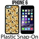 Mr Doge MEME Custom made Case/Cover/skin FOR iPhone 6 -Black- Plastic Snap On Case ( Ship From CA)
