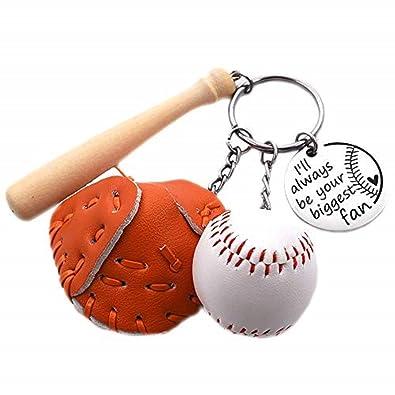Amazon.com: Negret - Llavero de béisbol y bate con diseño de ...