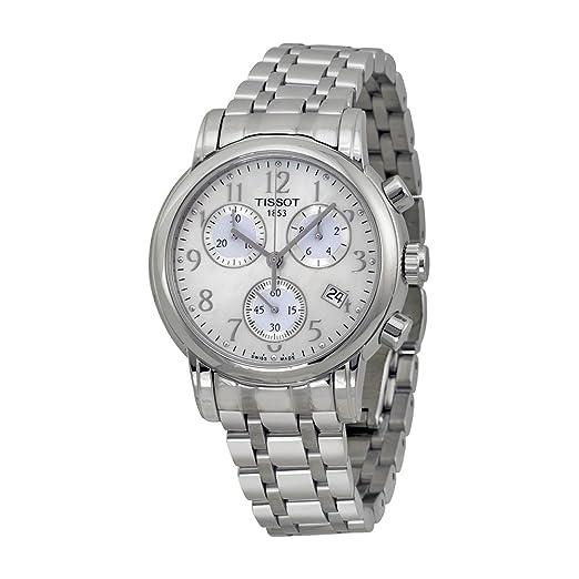 Tissot Relojes de la perla de la madre de acero inoxidable reloj de las mujeres T0502171111200: Amazon.es: Relojes