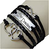 PromiseU Fashion Vintage Love Nautical Anchor Silver Infinity Bracelet