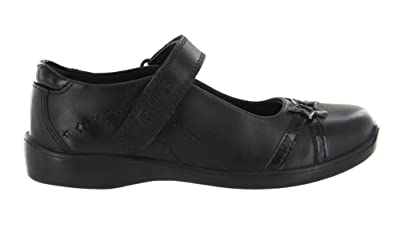 new product b812d 17cbd Buckle My Shoe Girls Kids Real Leather Back to School Shoes UK Size 9 Black