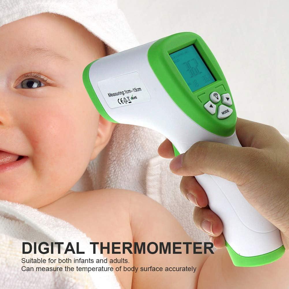 Moonvvin Term/ómetro Digital Infrarrojo Herramienta de medici/ón de Temperatura Corporal Frontal sin Contacto para beb/és Adultos Color Aleatorio