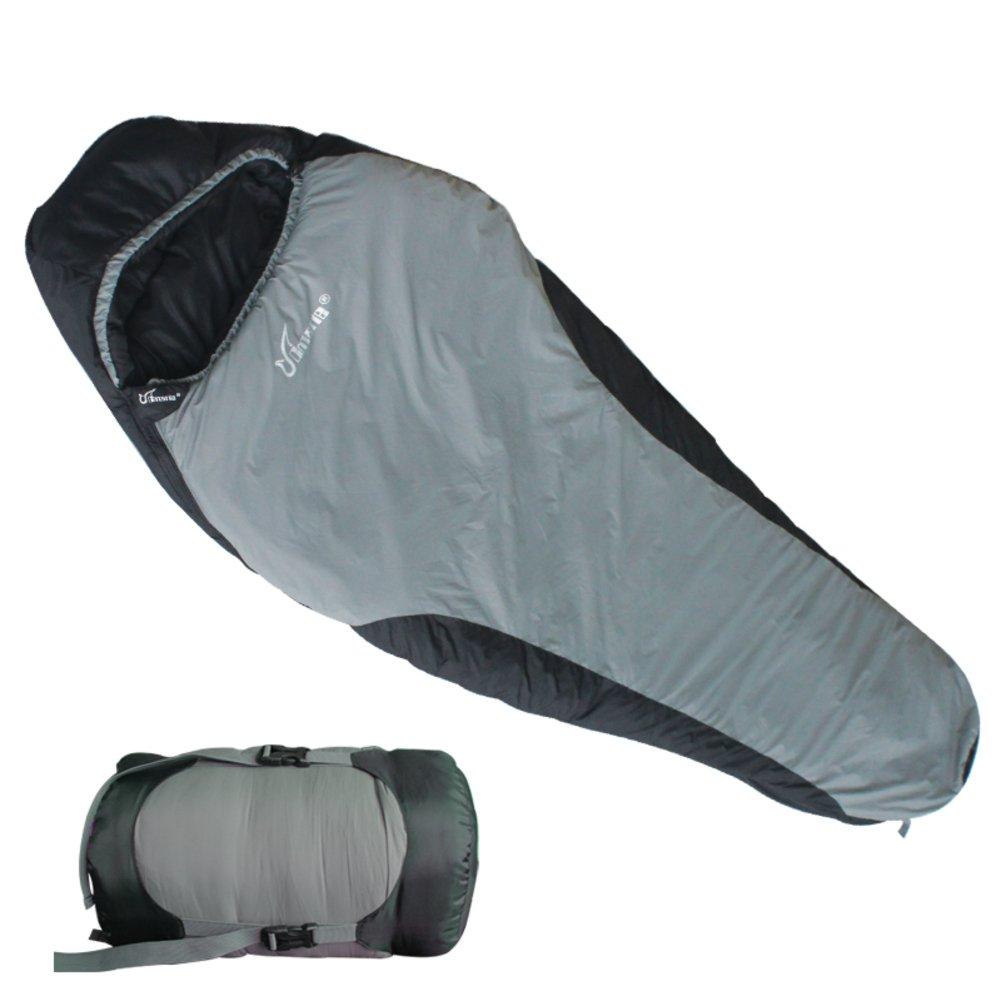 長い、広いアウトドアSleepingバッグMummy /キャンプ/キャンプ寝袋 B072DVHSGY  グレー