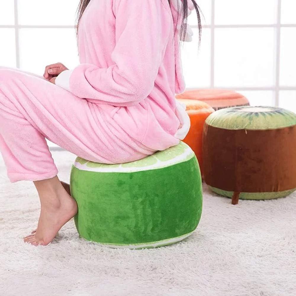 Cozyhoma Gonflable Tabouret Portable ext/érieur Chaise de Camping Chaise Pouf Gonflable pour Enfants et Adultes si/èges pour Home Office Yoga Watermelon Red