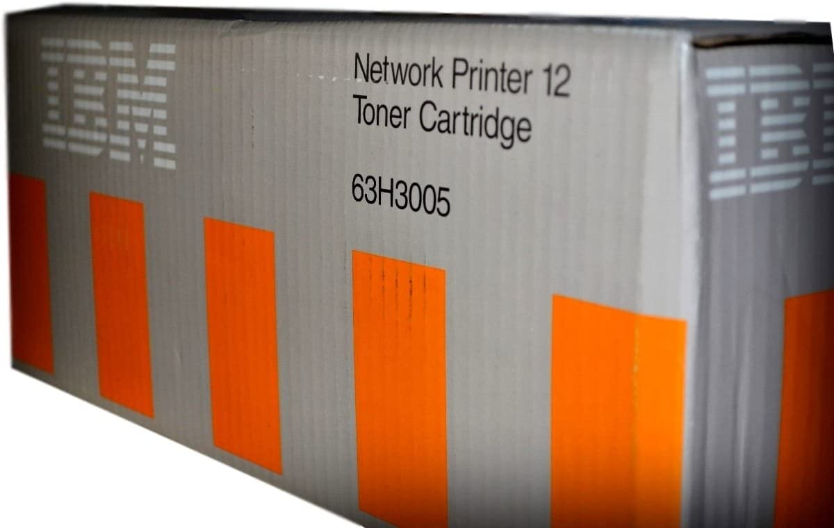 IBM 63H3005 Genuine Black Toner Cartridge For use with IBM NP12 and 4312 Network Laser Printers Up to 6000 Page Yield