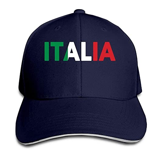 Image Unavailable. Image not available for. Color  Italia Italy Italian  Flag Classic 100% Cotton Hat Caps Unisex ... f43ee2b4f