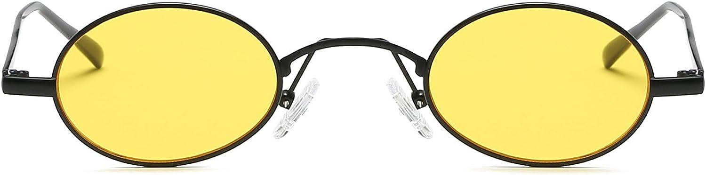 FEISEDY Classico Retro Piccolo Tondo Occhiali da sole 2018 Esile Struttura in Metallo Colore Della Caramella B2422