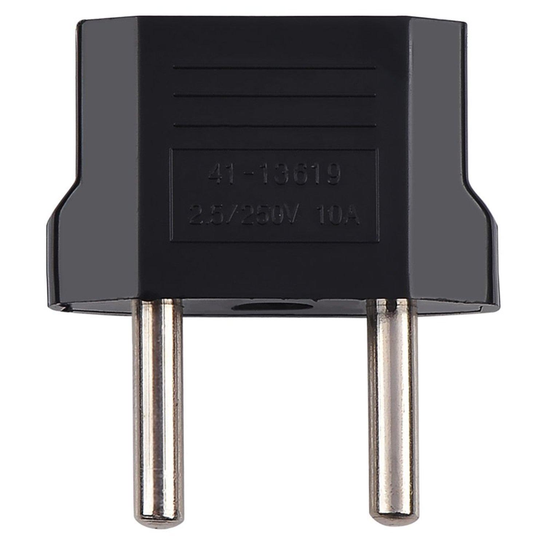 Adaptateur Adapteur Chargeur secteur prise AU/US à EU europe AC socket FR Noir ChannelExpert A06808