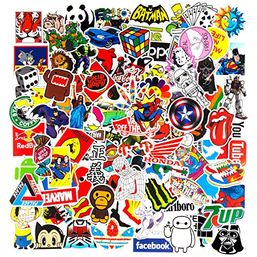Sticker for Water Bottles 100 PCS, iCaber Cute Vinyl Waterproof Stickers for Teens, Girls, Adults.Perfect for Waterbottle, Car, Laptop,Luggage, Phone, Hydroflasks
