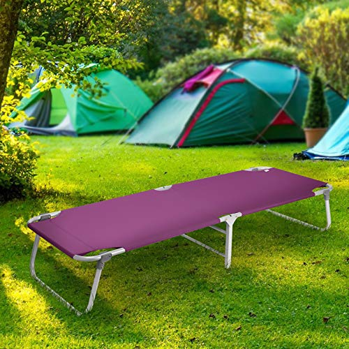 Magshion Portable Military Fold Up Camping Bed Cot + Free