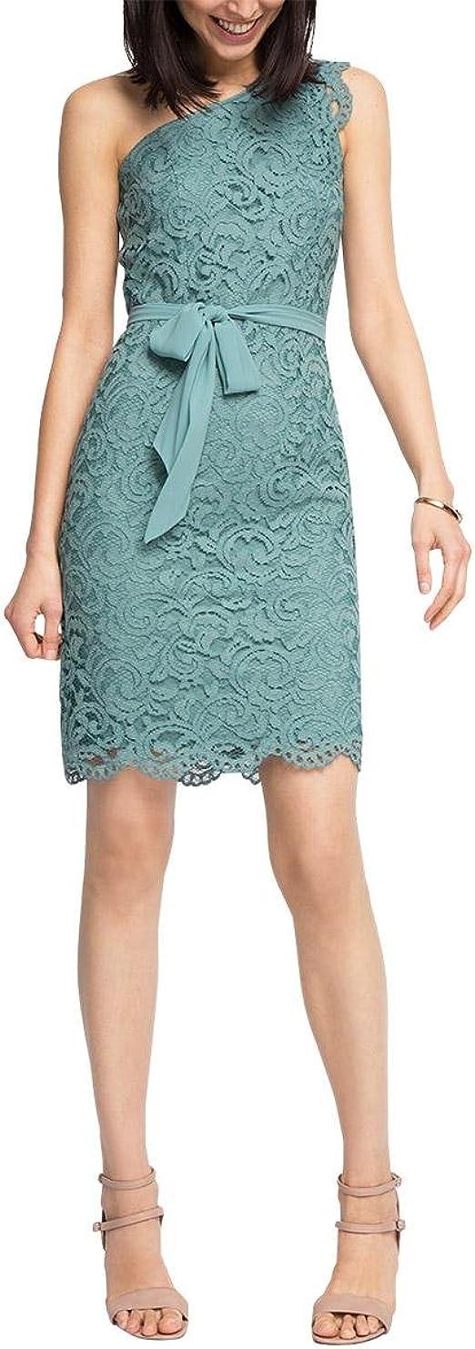 Esprit Collection Damen 056eo1e031 Hochwertige Spitze Kleid Grun Dusty Green 335 36 Amazon De Bekleidung