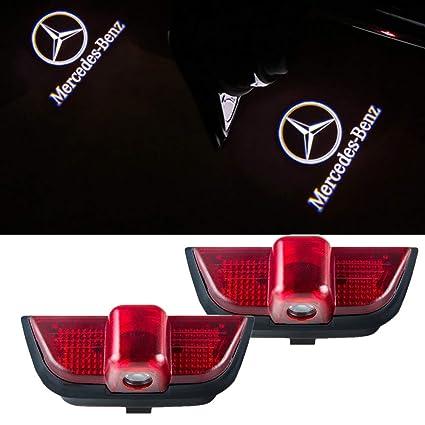 Mercedes Benz C-Class Car Door LED Logo Light Projector for  C200/C230/C260/C280/C300 Ghost Shadow Lights Welcome Lamp Acessories