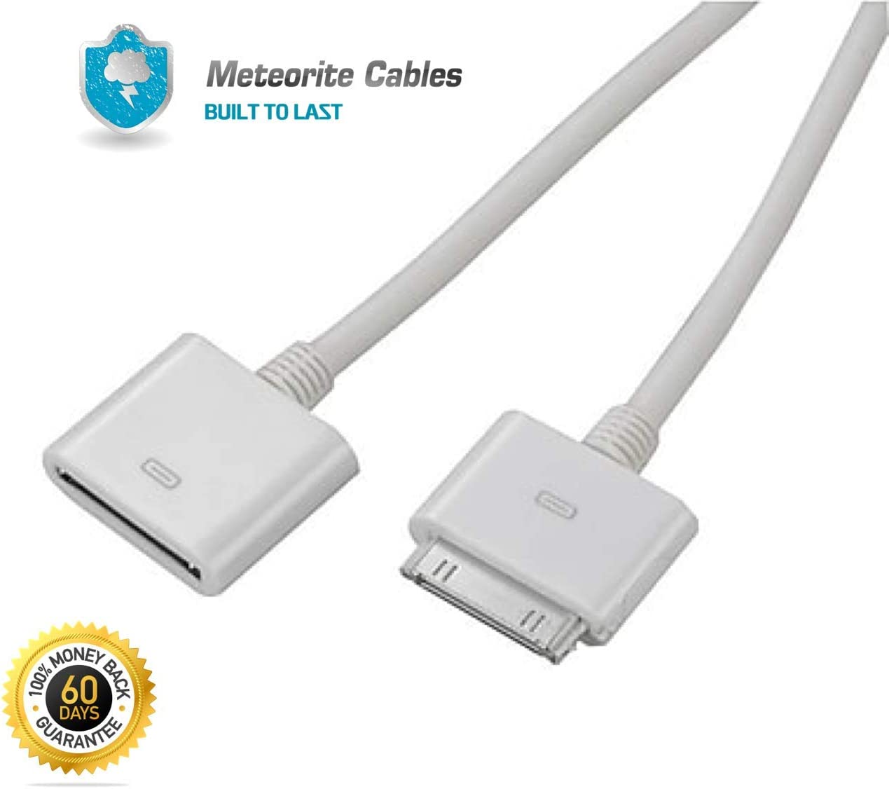 Dock Extender Extension Cable for iPhone 4S 4 3GS iPad iPod 30pin Male to Female