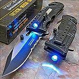 Best Led Knives - Tac-force Black Sheriff LED Tactical Rescue Pocket Knife Review