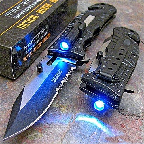 Tac-force Black Sheriff LED Tactical Rescue Pocket Knife, Model: , Tools & Hardware store