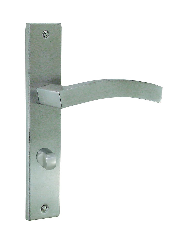 Ensemble poignée de porte sur plaque SQUALE à condamnation 195 mm inox DOORTOOLS